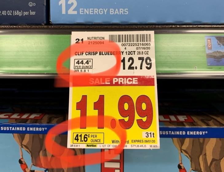 comparison price tag