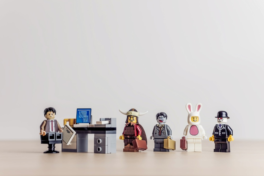 different lego people