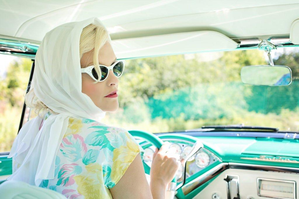 summer driving vintage