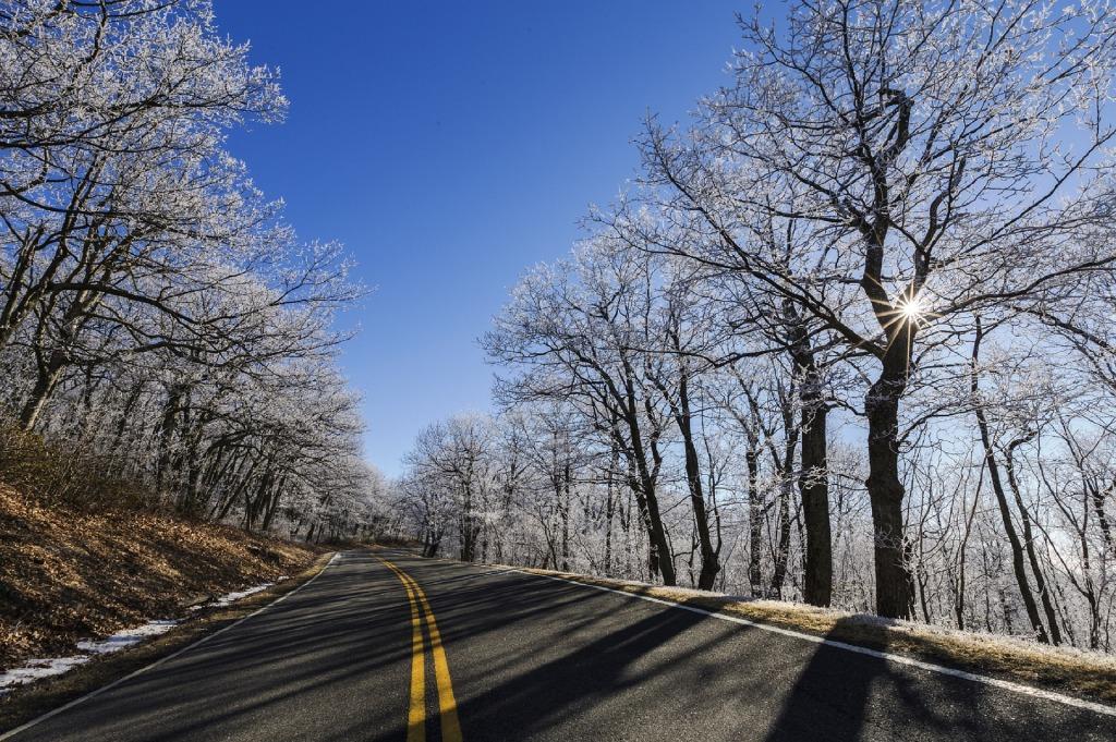 beautiful winter road
